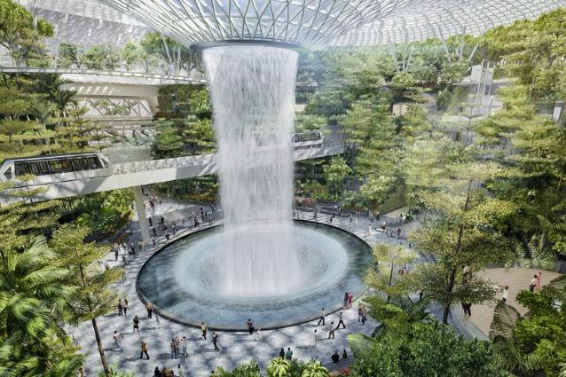 Cascate e giardini tropicali: a Singapore il miglior aeroporto del mondo