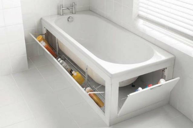 Arredamento Vasca Da Bagno Piccola : I modi più geniali per recuperare spazio in bagno