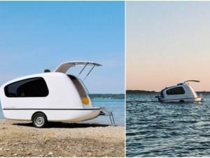 Sealander, la prima roulotte che diventa una casa galleggiante