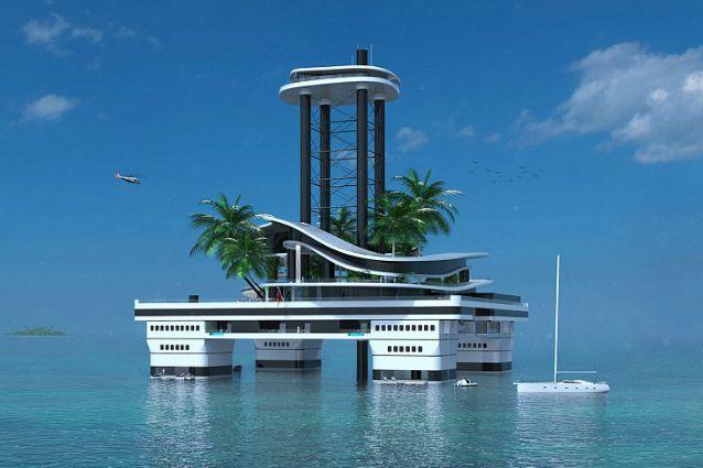 Non pi mega yacht ma isole galleggianti private ecco la for Case futuristiche