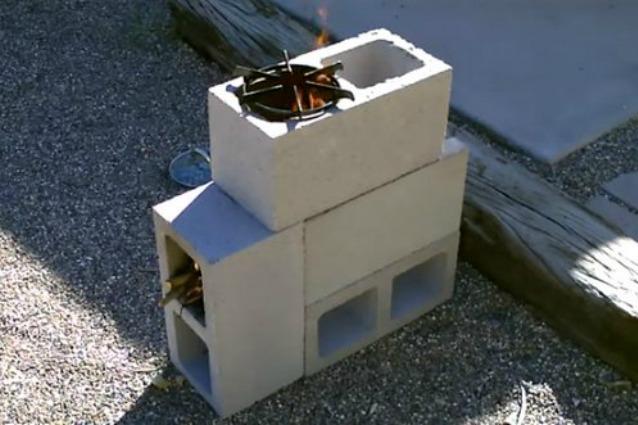 Lampada In Cemento Fai Da Te : Come costruire una stufa da esterni con i blocchi di cemento