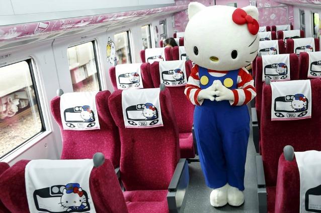 Benvenuti sul primo treno a tema Hello Kitty: ecco come ci si sposta a Taiwan
