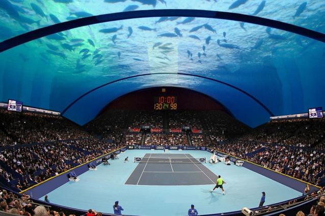 """Sport """"sotto"""" acquatici: ecco il primo campo da tennis sottomarino al mondo"""