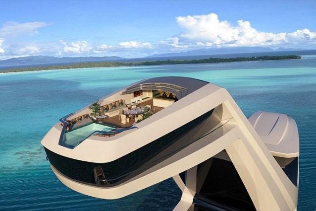 Cabina panoramica e piscina a strapiombo ecco lo yacht pi for Costruttori di cabina del minnesota
