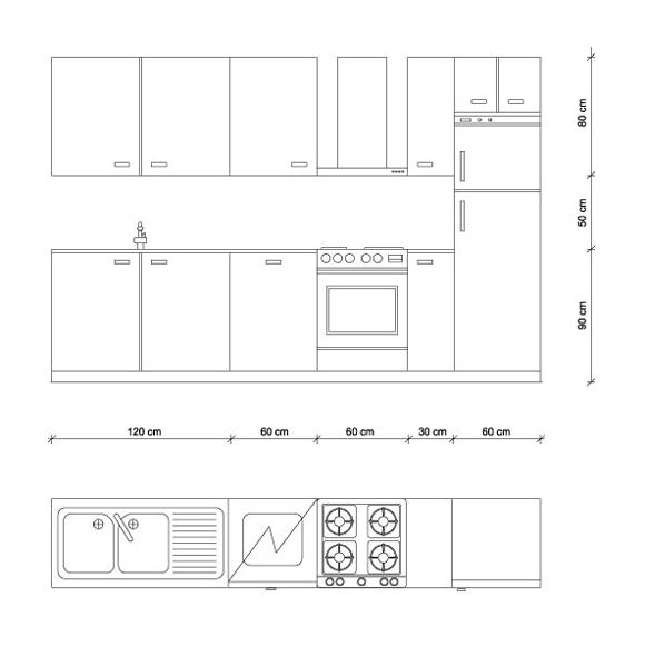 Dimensioni standard degli arredi chi le ha inventate e perch - Dimensioni cucina standard ...