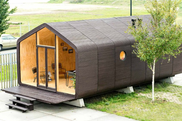 La mini casa modulare di cartone che dura anni