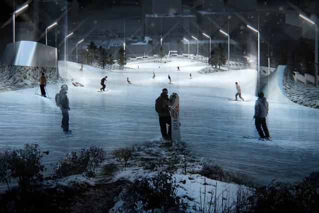 Copenhagen, la pista da sci è su un tetto di spazzatura