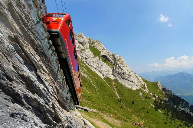 A bordo della ferrovia alpina più ripida del mondo