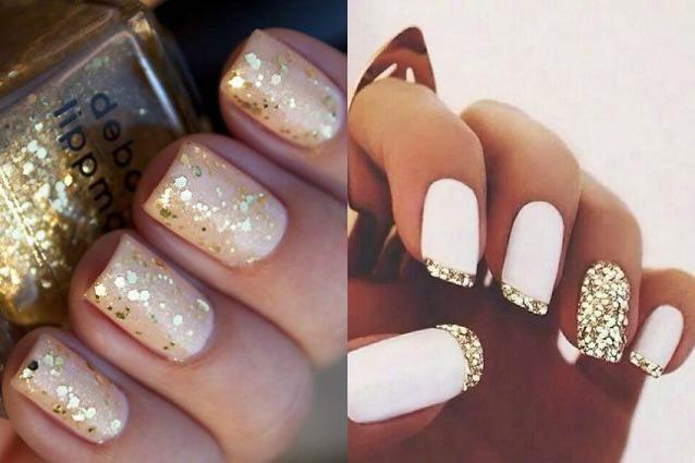 Le unghie della settimana golden manicure foto for Immagini con brillantini