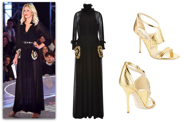 847dd129e343 Abito Pizzo Nero Abbinamenti ~ Abito nero accessori oro su abiti da sposa  italia