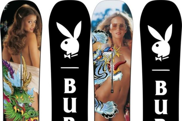 Conigliette nude sulle tavole da snow: la collezione sexy di Playboy per Burton