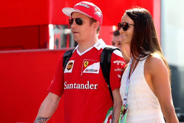 Kimi Raikkonen e Minttu Virtanen – Getty Images
