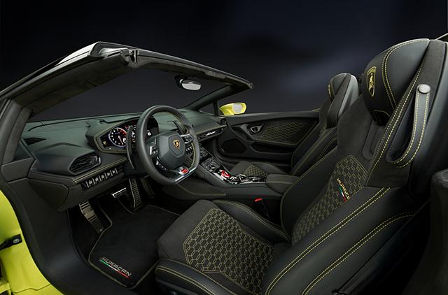 Lamborghini Huracán RWD Spyder, scoperta posteriore