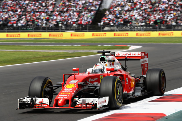 Sebastian Vettel durante il Gp del Messico – Getty Images