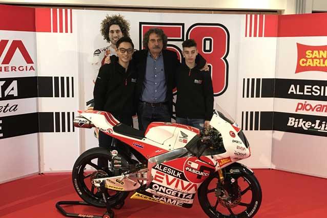 La 'Sic 58 Squadra Corse' approda al Mondiale con Arbolino e Suzuki