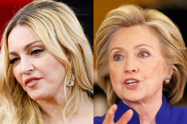 Madonna sta con Hillary Clinton