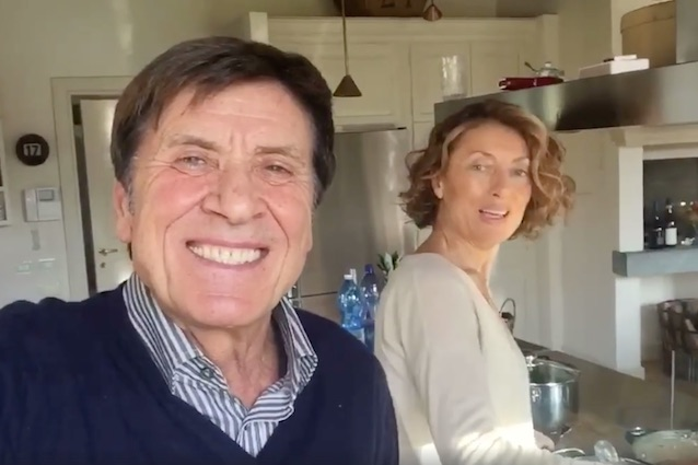 Anna incoraggia Gianni Morandi Dai che oggi stai meglio