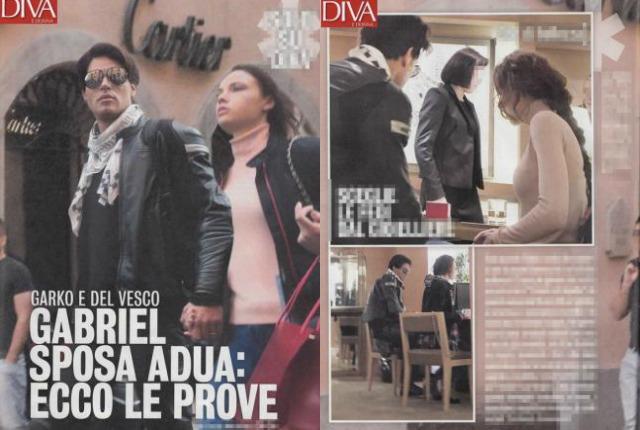 Gabriel Garko e Adua Del Vesco scelgono gli anelli nuziali ...