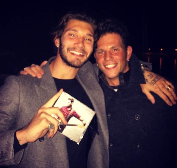 Stefano con Enrico Nigiotti, ex di Elena