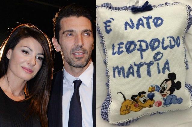 Ilaria D'Amico e Gianluigi Buffon sono diventati genitori, è nato Leopoldo Mattia