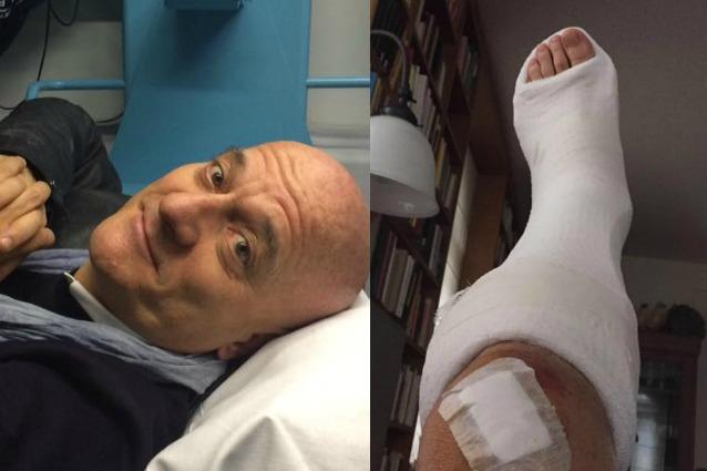 Claudio Bisio, protagonista di un incidente in moto a Milano