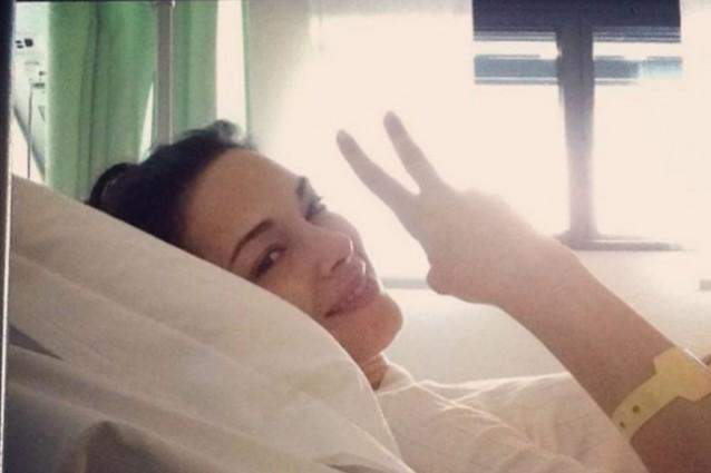 Giorgia Surina operata per un tumore benigno