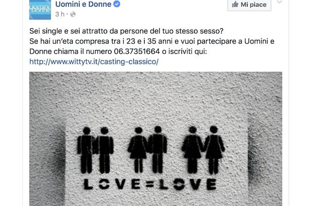 Uomini e Donne Trono Gay: Casting aperti nuova edizione