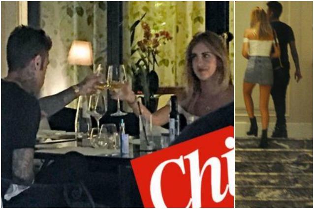 Fedez e Chiara Ferragni a cena insieme appuntamento romantico con fuga in hotel