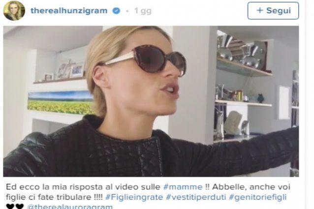 Michelle Hunziker risponde ad Aurora Anche voi figlie ci fate tribolare