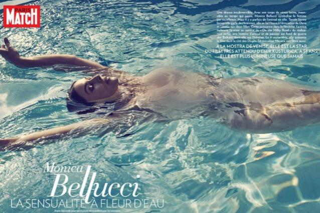 Monica Bellucci senza veli su Paris Match