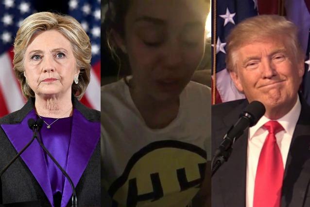 Donald Trump: dopo la vittoria, Miley Cyrus piange disperata in diretta