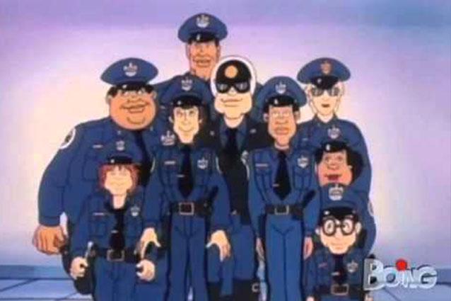 Tanti auguri scuola di polizia il cartone animato compie