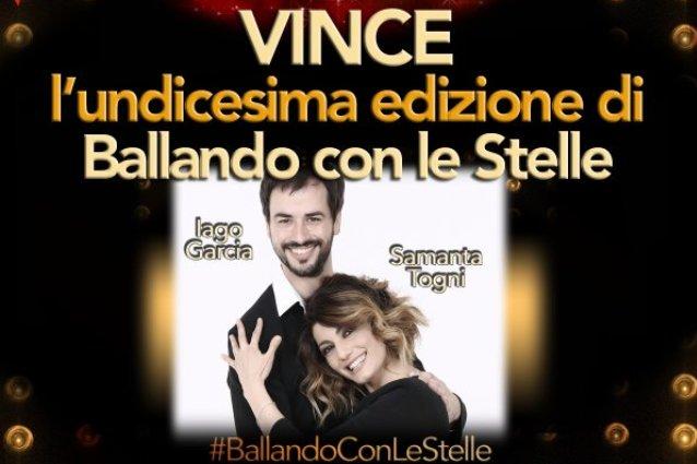 """Iago Garcia e Samanta Togni sono i vincitori di """"Ballando con le stelle 2016"""""""