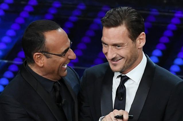 A Sanremo 2017, Francesco Totti fa ironia sulla Lazio? Il campione smentisce