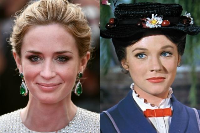 Emily Blunt sarà Mary Poppins nel sequel del film con Julie Andrews