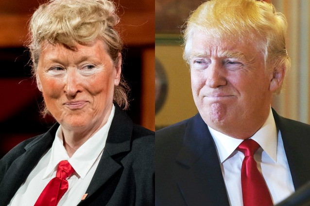 Meryl Streep si traveste da Donald Trump a New York