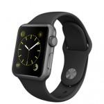 Apple Watch Sport. Richiede un iPhone 5, 5c, 5s, 6, 6 Plus, 6s o 6s Plus e iOS 8.2 o successivo. Cassa in alluminio anodizzato color argento, grigio siderale, oro giallo o oro rosa. Vetro Ion-X, display Retina con Force Touch. Cardiofrequenzimetro, accelerometro e giroscopio, sensore di luce ambientale, altoparlante e microfono, Wi‑Fi, Bluetooth 4.0. Ha fino a 18 ore di autonomia ed è resistente all'acqua. 419 euro.