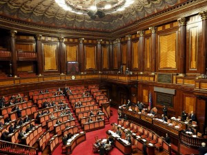 A general view shows the Italian Senate in Rome, January 28, 2016. Senate will begin debate on a bill that would legalise civil partnership for homosexuals as well as unmarried heterosexual couples. REUTERS/Remo Casilli