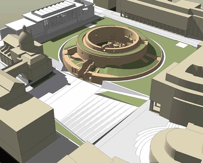 Seicento giorni per realizzare la nuova piazza augusto for Augusto roma