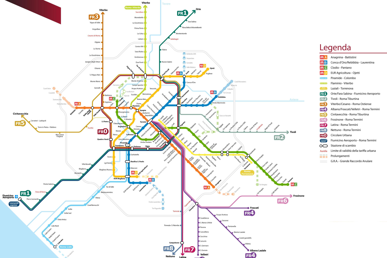 Cartina Metropolitana Roma Pdf.Mappe Di Roma Per Non Perdersi Nella Capitale