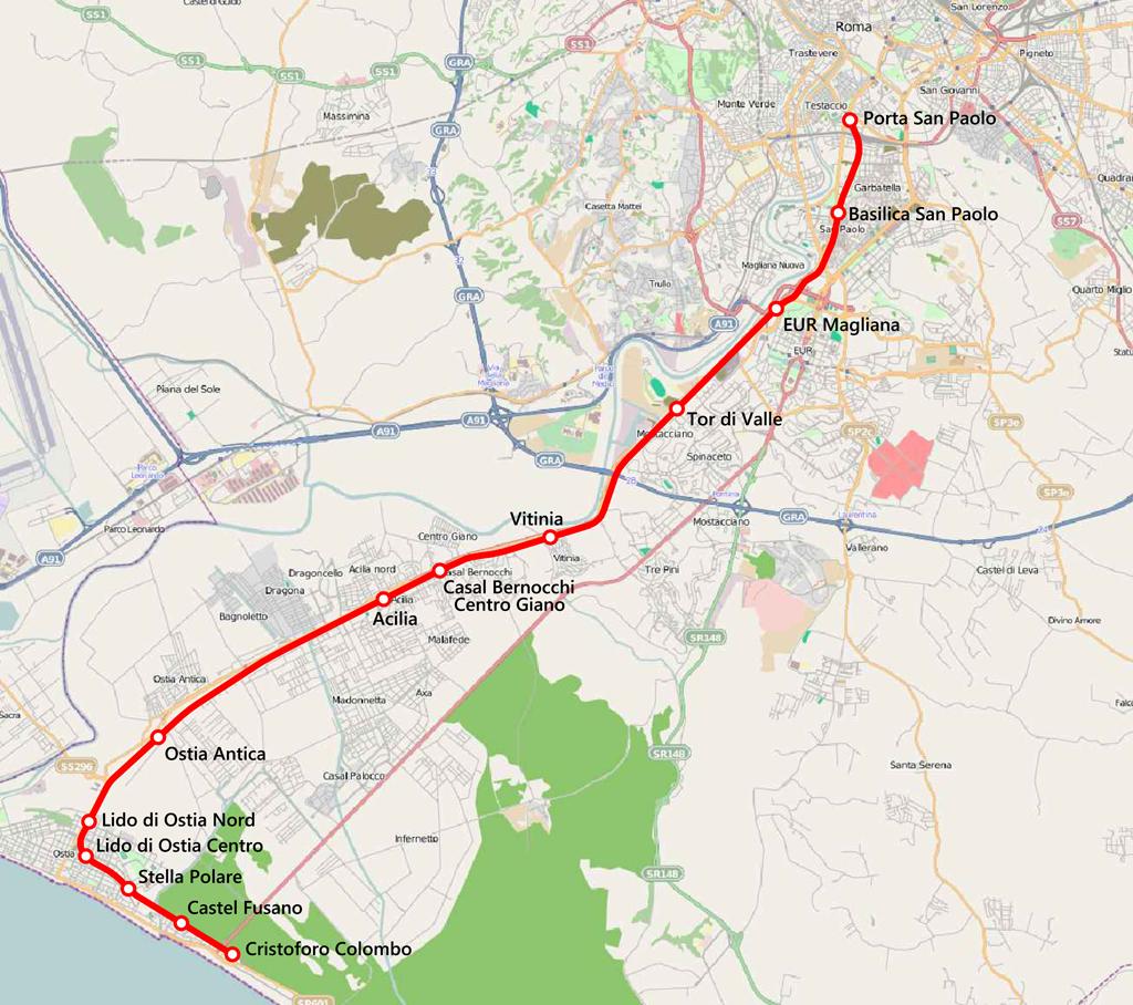 Cartina Stazioni Ferroviarie Roma.Treno Roma Lido Fermate Orari E Prezzo Per Raggiungere Il Mare Di Ostia