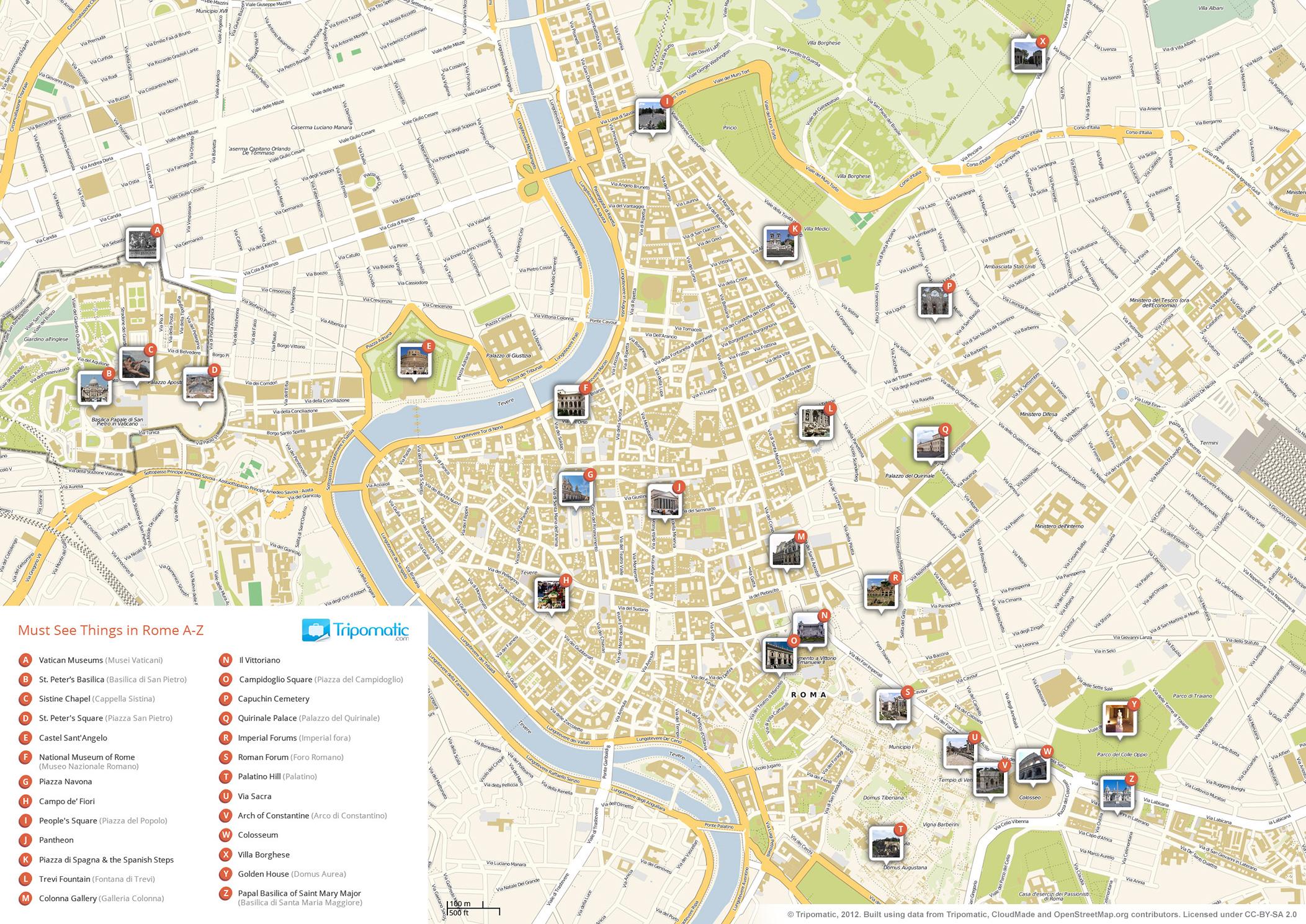 Cartina Centro Roma.Mappe Di Roma Per Non Perdersi Nella Capitale
