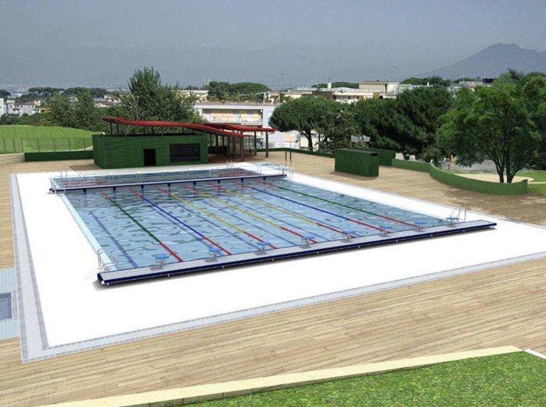 Colli aminei arrivano piscina e solarium comunali nel for Costo del solarium per piede quadrato