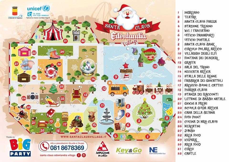 Babbo Natale Mappa.Villaggio Di Babbo Natale Nell Edenlandia Mappa Orari E Prezzi Sotto Sequestro