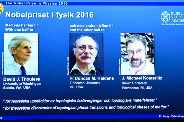 A Thouless, Haldane e Kosterlitz il Nobel per la Fisica 2016