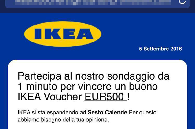 partecipa al sondaggio e vinci un buono ikea da 500 euro attenzione alla truffa. Black Bedroom Furniture Sets. Home Design Ideas