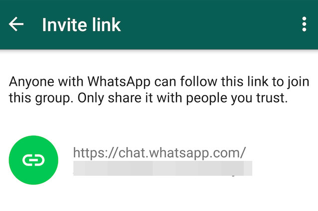 WhatsApp Beta arriva link invito gruppi