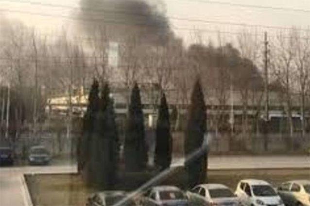 Prende fuoco una fabbrica in Cina — Samsung SDI
