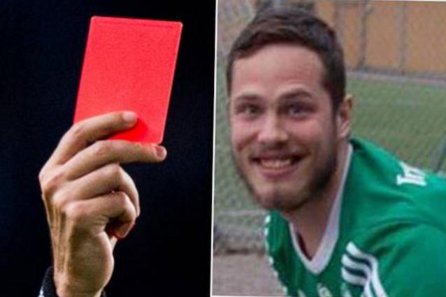 Adam Lindin, calciatore espulso per un... peto rumoroso