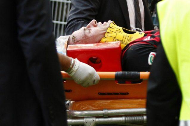 Milan, trauma cervicale per Antonelli: è in ospedale per accertamenti